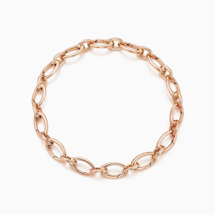 Bracelet à maillons fermoirs ovales