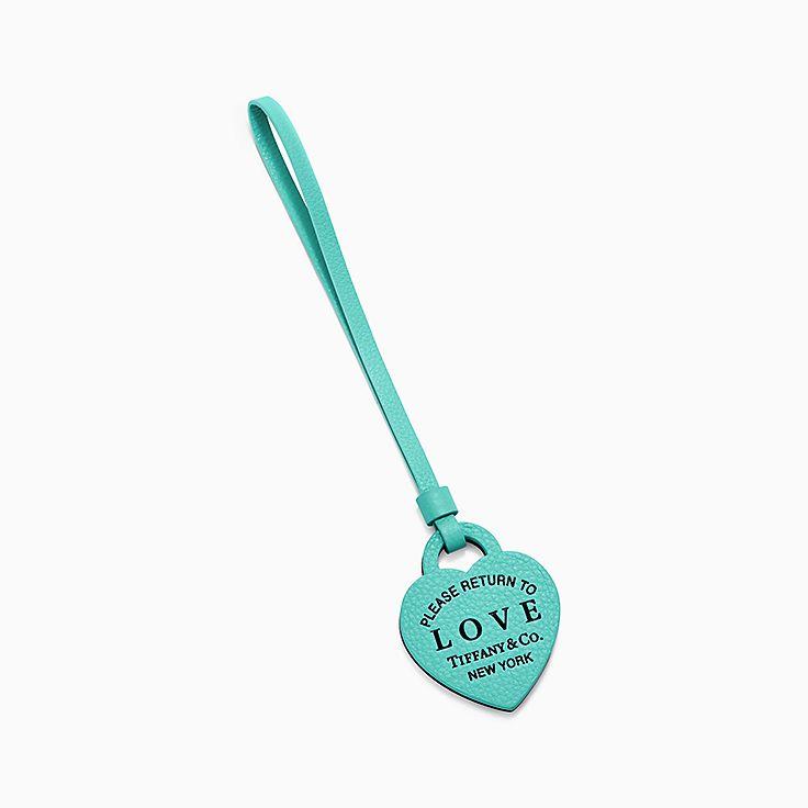 Ciondolo da borsa cuore con scritta Love. Collezione Return to Tiffany™