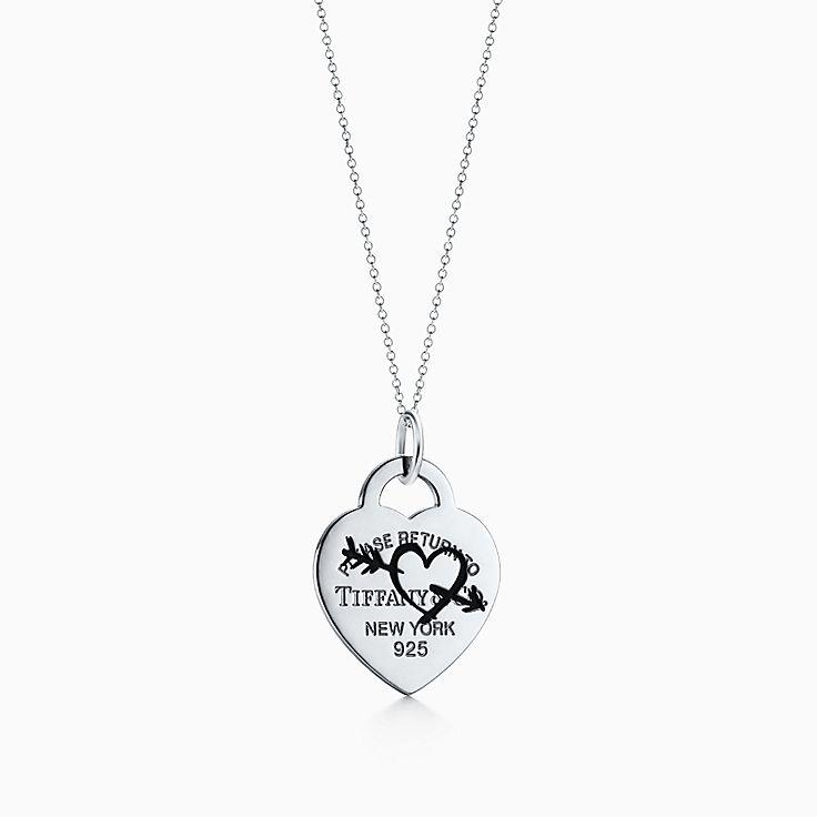 Collezione Return to Tiffany™:Ciondolo Etched Heart and Arrow
