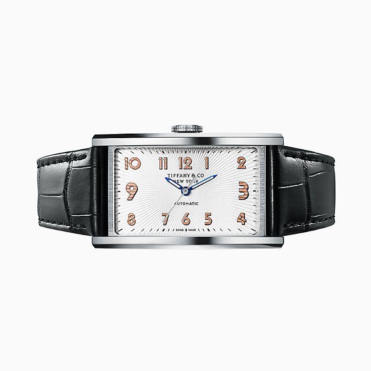 Collezione Tiffany East West®:Orologio automatico a 3 sfere, 46,5x27,5mm