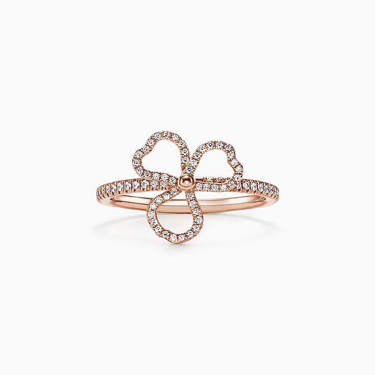 Collezione Tiffany Paper Flowers®:Anello Diamond Open Flower