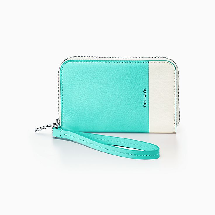 Color Block: cartera con cremallera