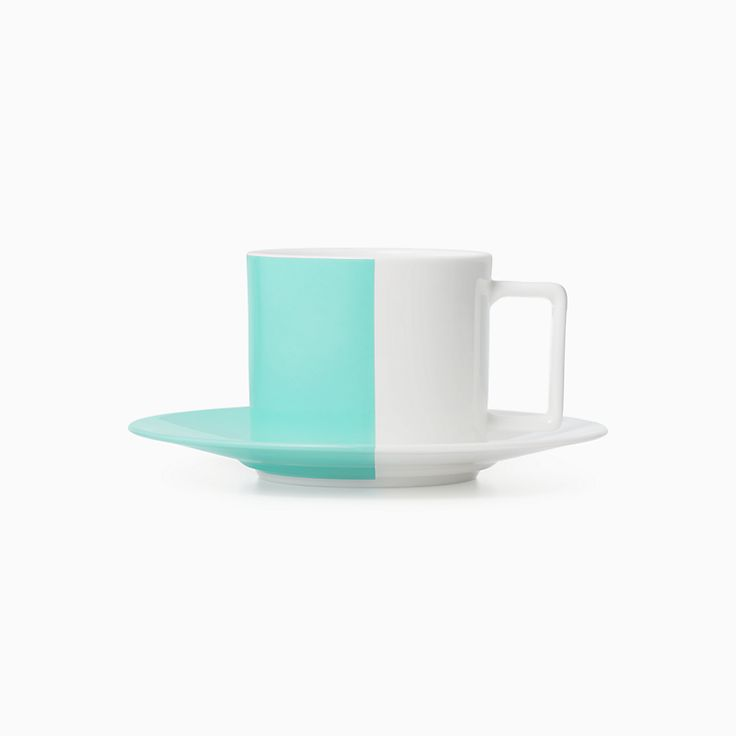 Color Block:Taza de té y plato