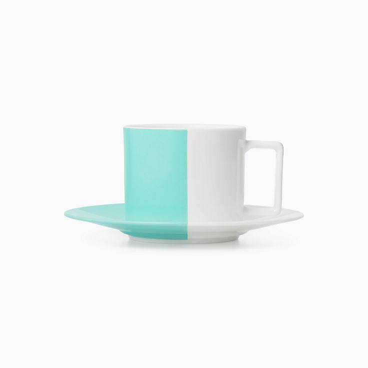 Color Block:Teetasse und Untertasse