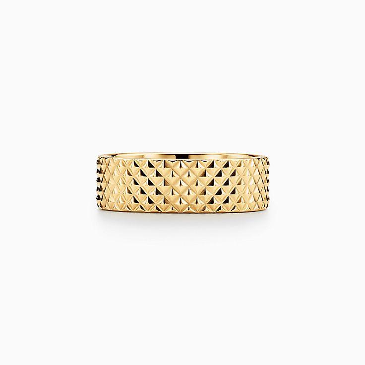 Diamond Point:Breiter Ring in 18 Karat Gold