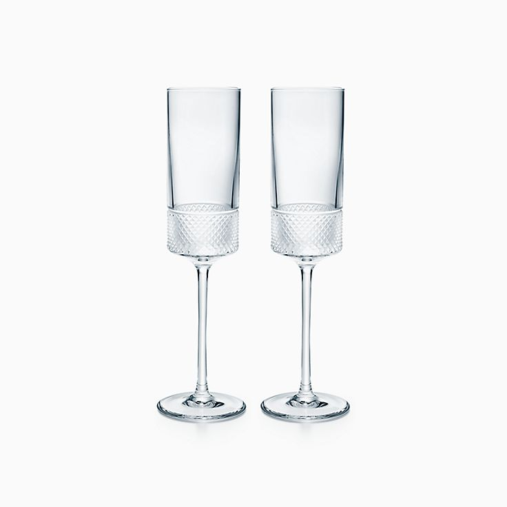 Diamond Point:Champagne Flute Set