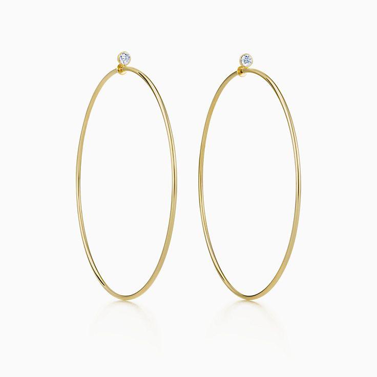 Elsa Peretti™:Серьги-кольца с бриллиантами