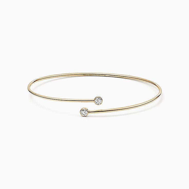 Elsa Peretti™:Браслет с бриллиантовымобрамлением в один ряд