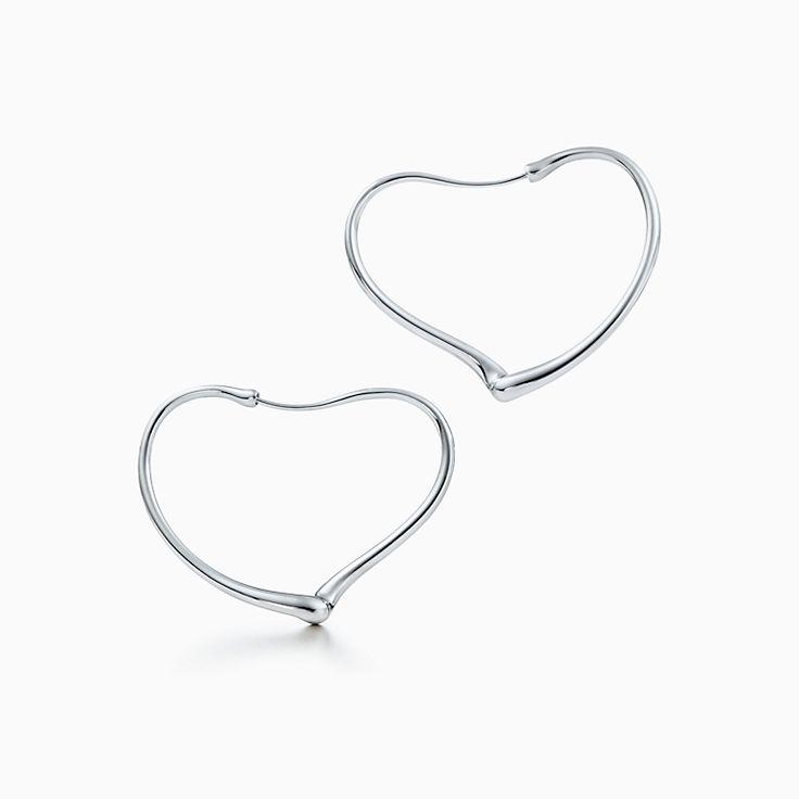 Elsa Peretti™: brincos de argola Open Heart