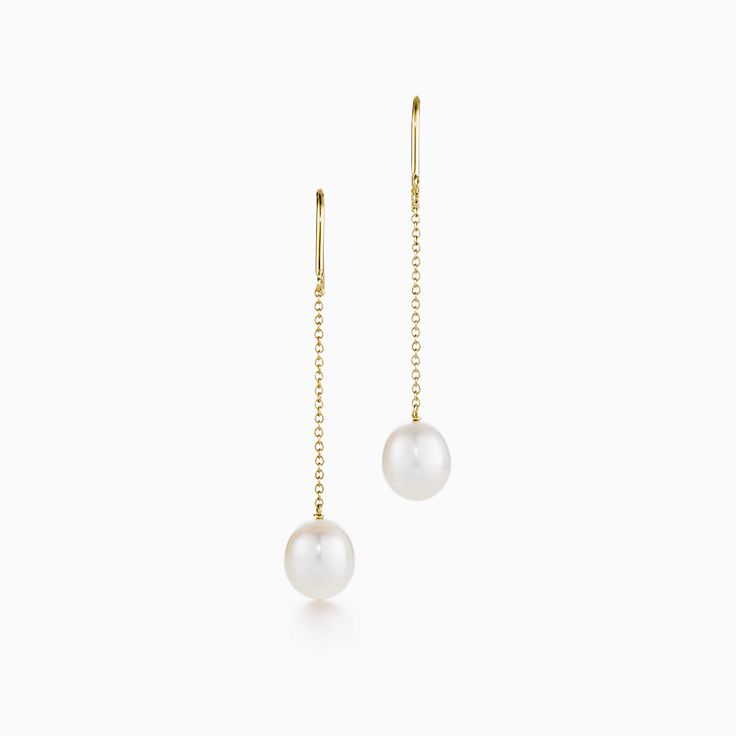 Elsa Peretti™: brincos de corrente Pearls by the Yard™