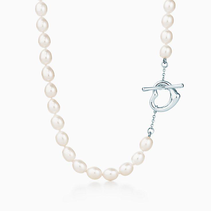 Elsa Peretti™: ожерелье Open Heart с жемчугом