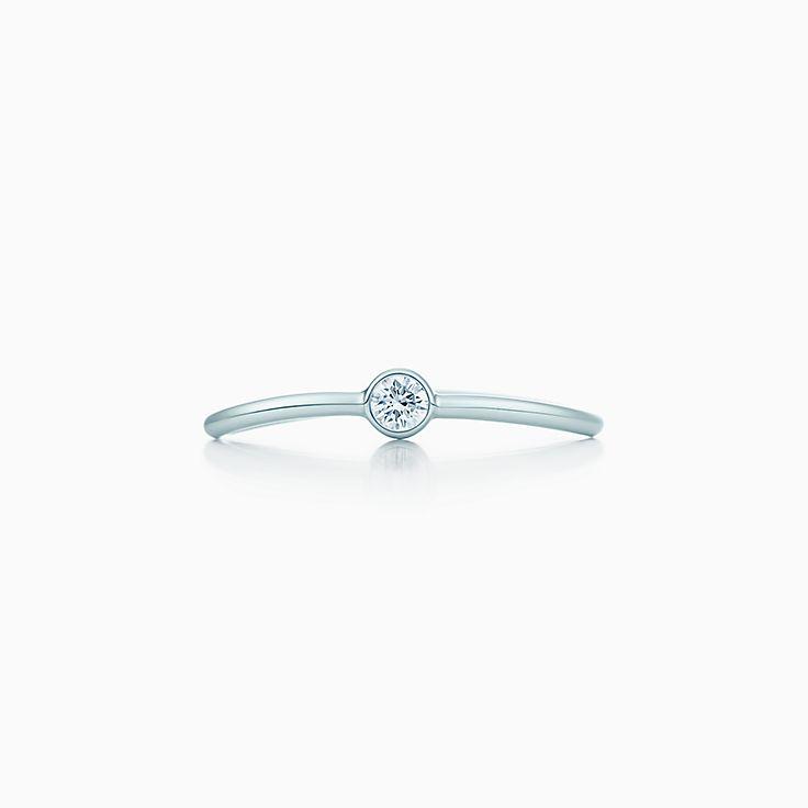 Elsa Peretti™:Однорядное кольцо с бриллиантом Wave
