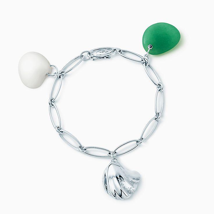 Elsa Peretti®:Cat Island Wave Shell Charm Bracelet