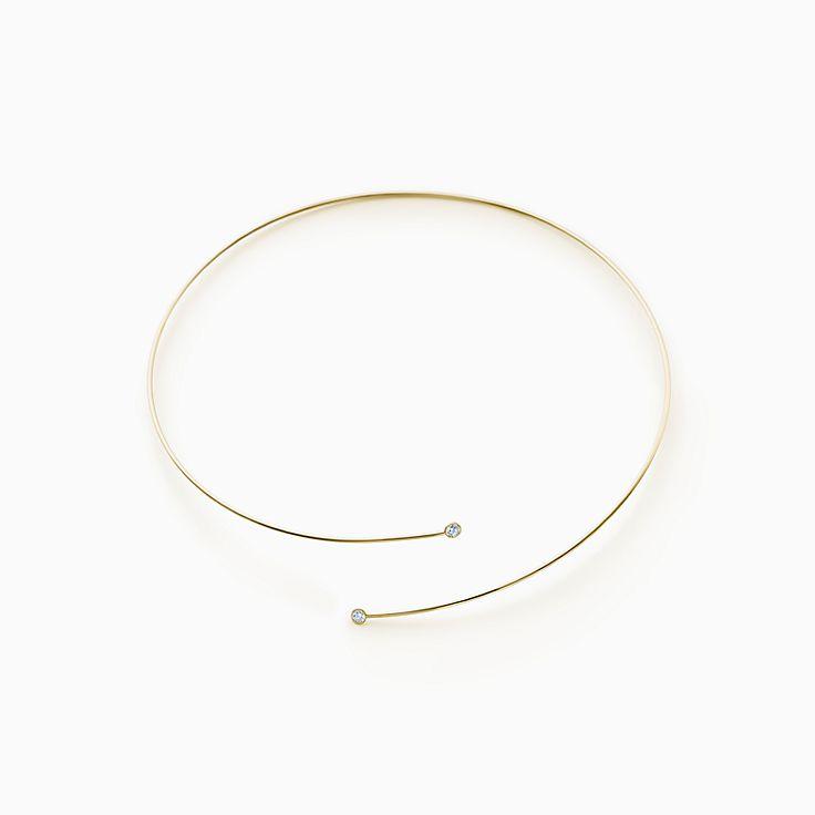 Elsa Peretti®:Diamond Hoop Necklace