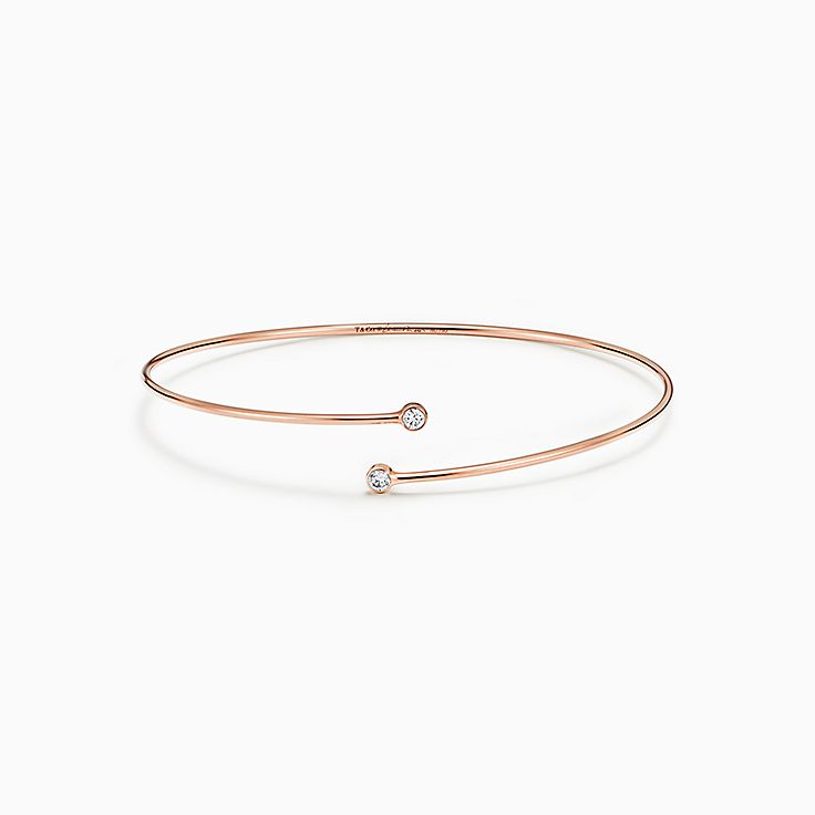 Elsa Peretti®:Diamond Hoop Single-row Bangle