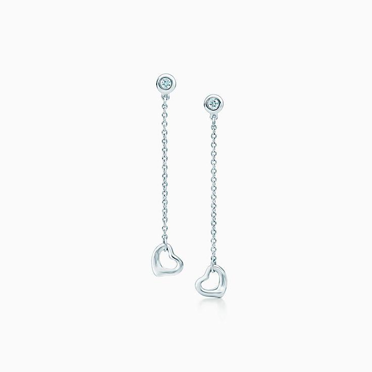 Elsa Peretti®:Diamonds by the Yard® Open Heart Earrings