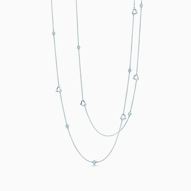 Elsa Peretti®:Diamonds by the Yard® Open Heart Necklace