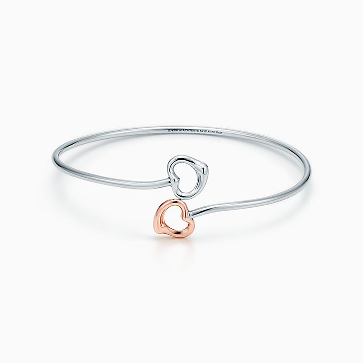Elsa Peretti®:Double Open Heart Bangle