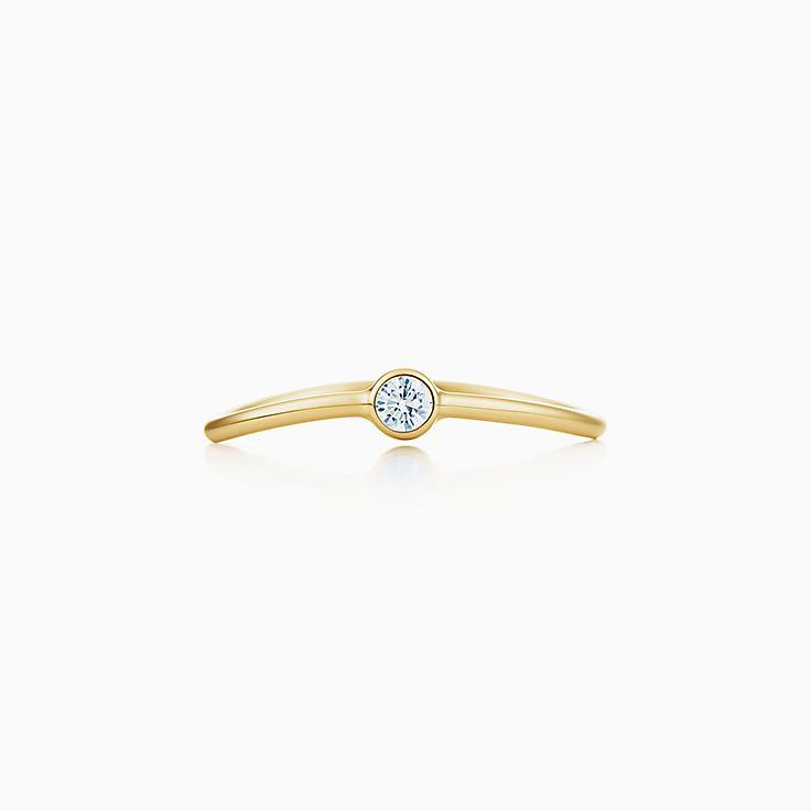 Elsa Peretti(MD):Bague à diamant à un rang Vague