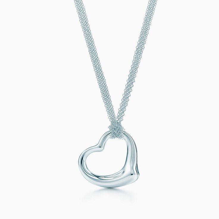 Elsa Peretti®:Open Heart 鏤空心形鍊墜