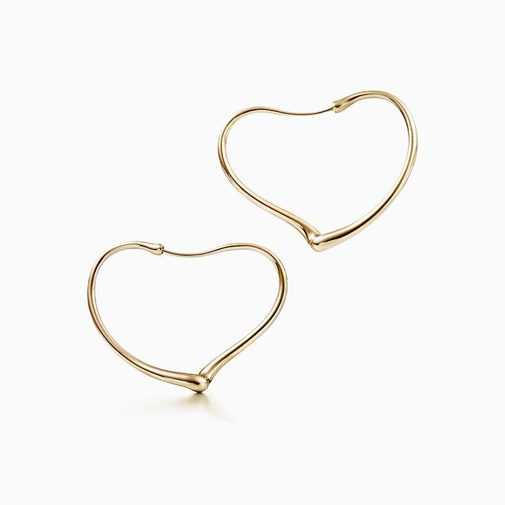 Elsa Peretti®:Open Heart 鏤空心形圈形耳環