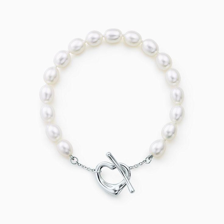 Elsa Peretti®:Open Heart Pearl Bracelet