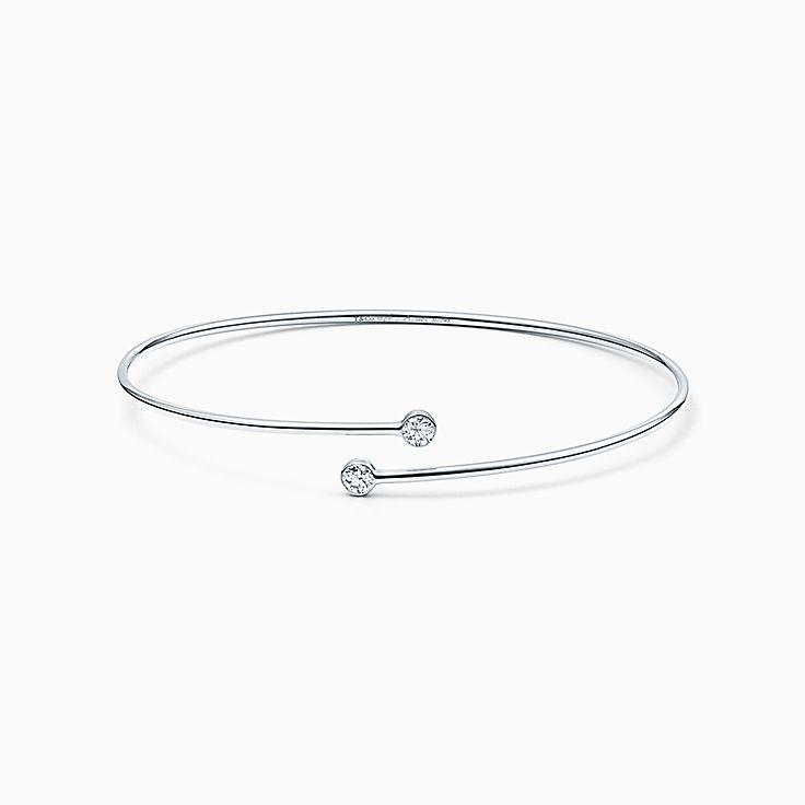 Elsa Peretti™:Pulseira Diamond Hoop de uma fileira