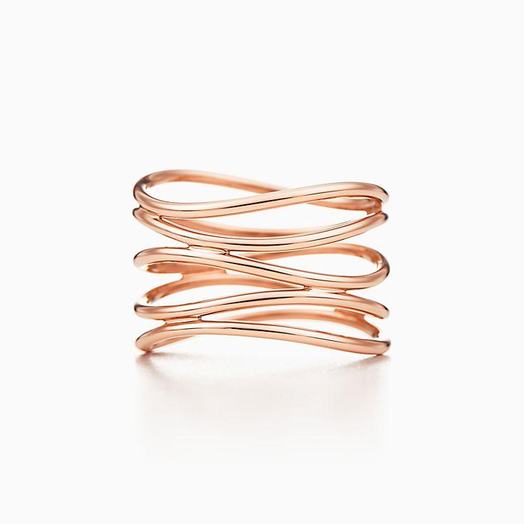 Elsa Peretti®:Wave Five-row Ring
