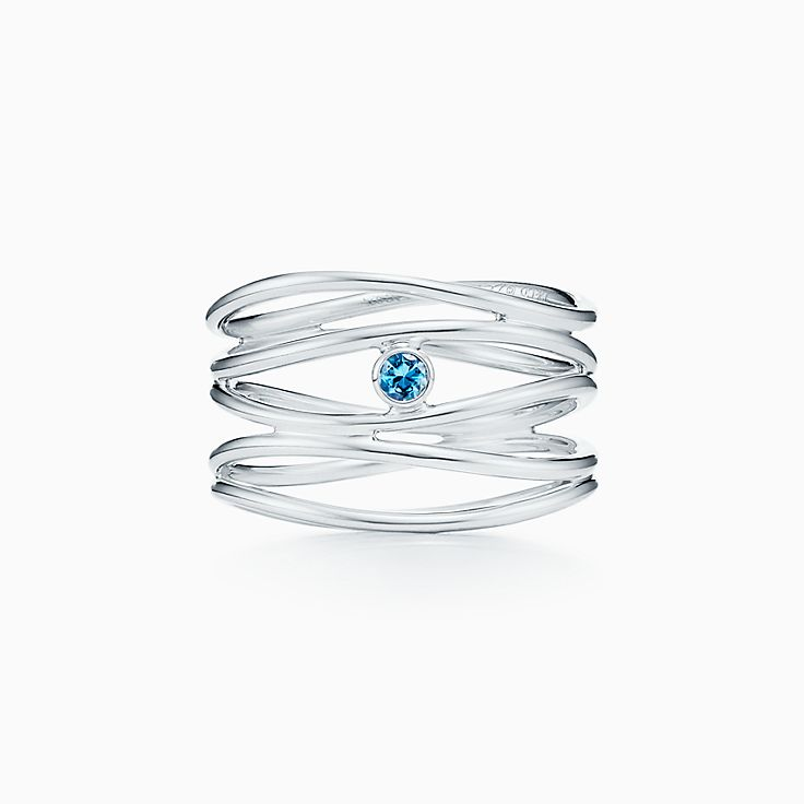 Elsa Peretti®:Wave Five-row Ring