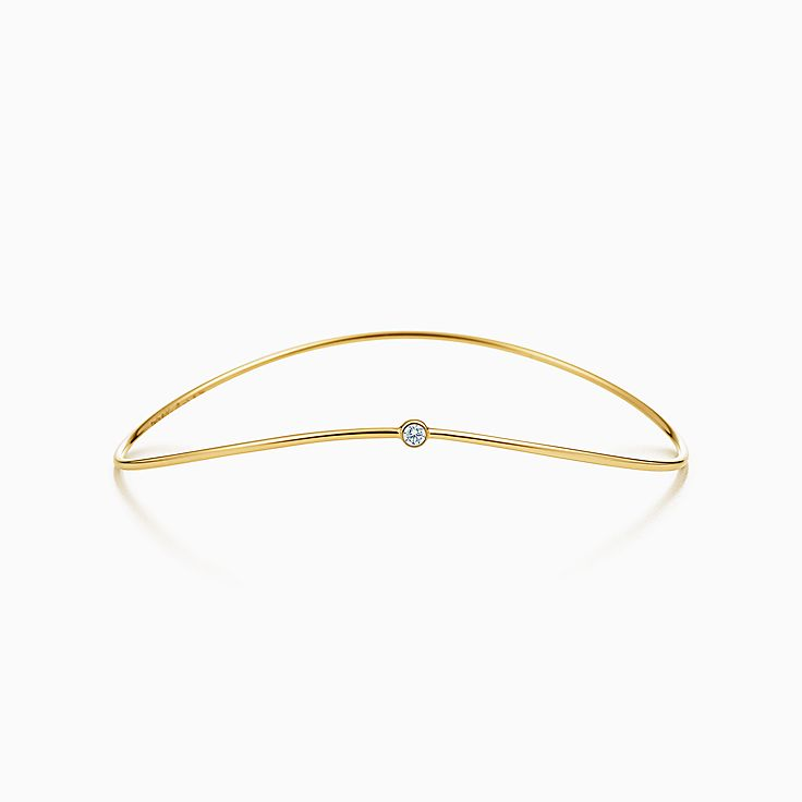 Elsa Peretti®:Wave Single-row Diamond Bangle