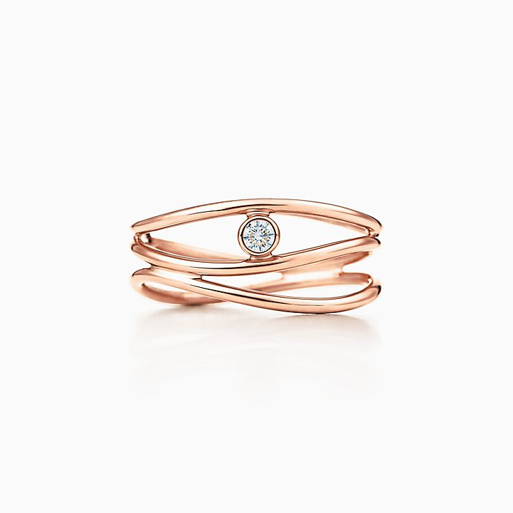 Elsa Peretti®:Wave Three-row Diamond Ring