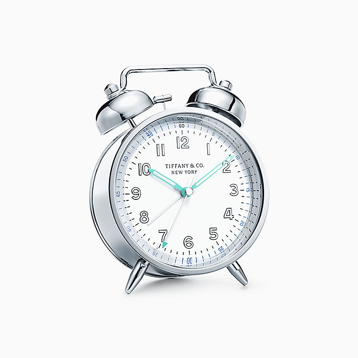 Everyday Objects:Nickel Twin Bell Alarm Clock