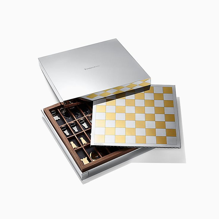 Everyday Objects:Sterling Silver and 24k Gold Vermeil Chess Set