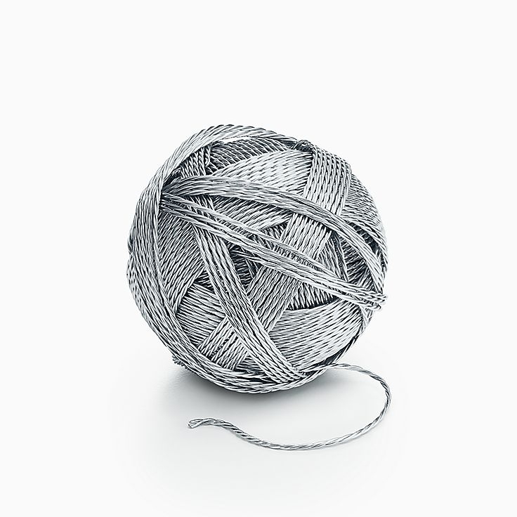 Everyday Objects:Sterling Silver Ball of Yarn