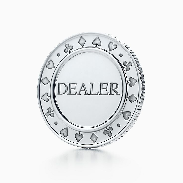 Everyday Objects:Sterling Silver Dealer Button