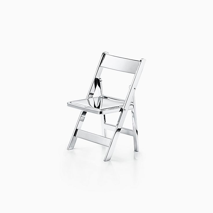 Everyday Objects:Sterling Silver Mini Folding Chair