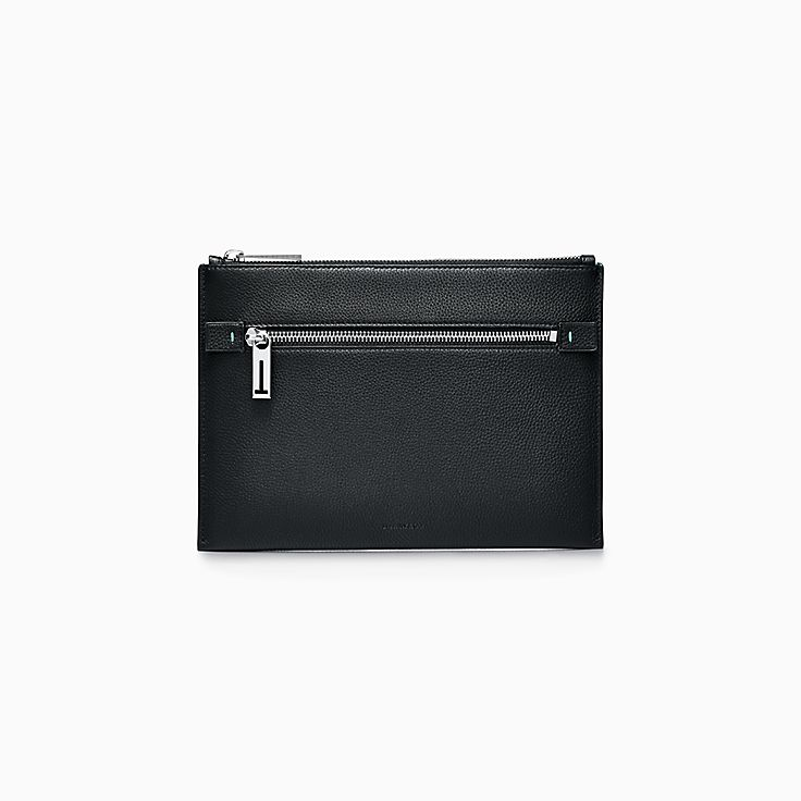 Flat Zip Leather Pouch