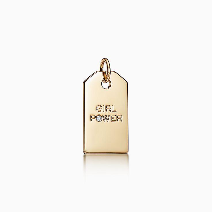 """ティファニー チャーム:""""Girl Power"""" タグ"""