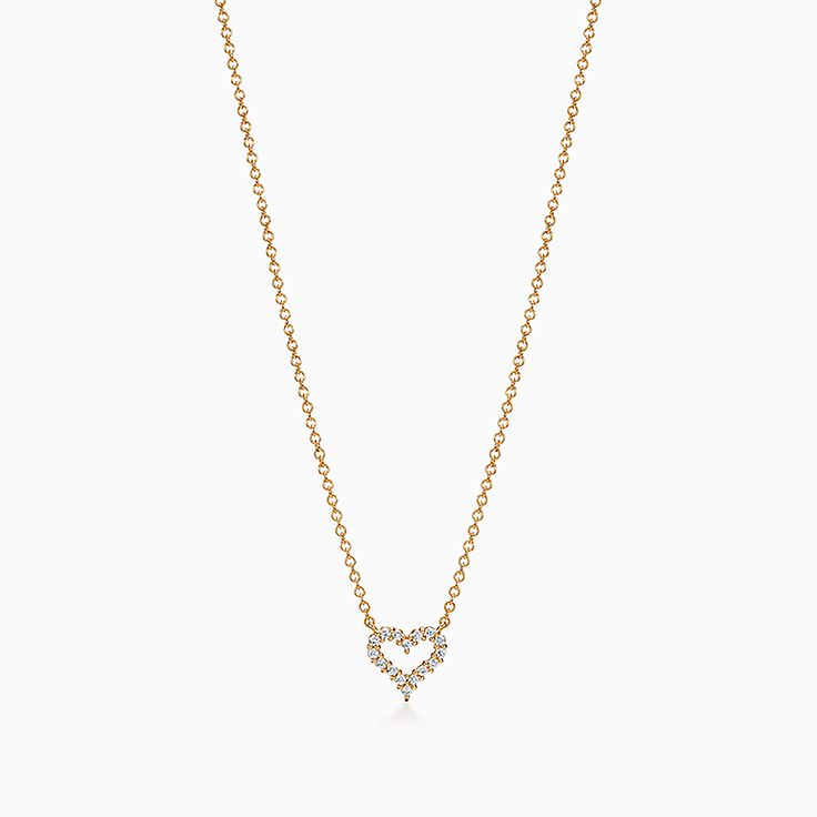 """Ladies Gold Coloured Necklace with Small Heart Pendant 18"""""""