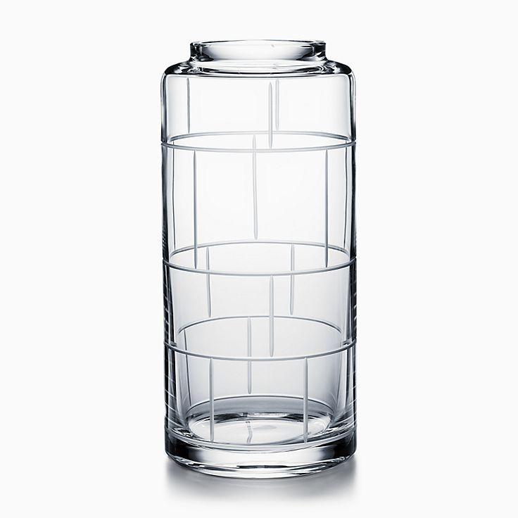 Modern Bamboo:Crystal Glass Cylinder Vase