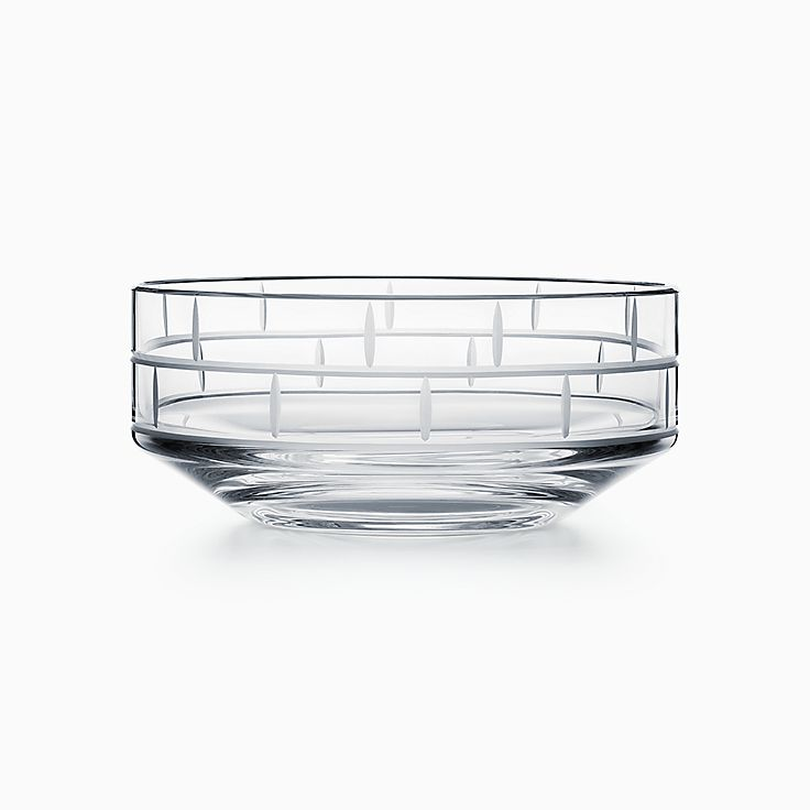 Modern Bamboo:Crystal Glass Round Bowl