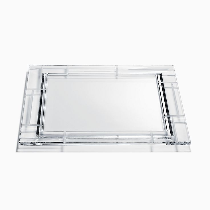 Modern Bamboo:Lead Crystal Square Platter