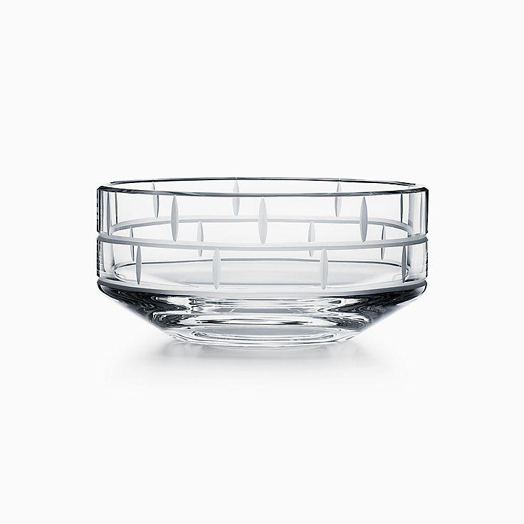 Modern Bamboo:Runde Schale aus Kristallglas