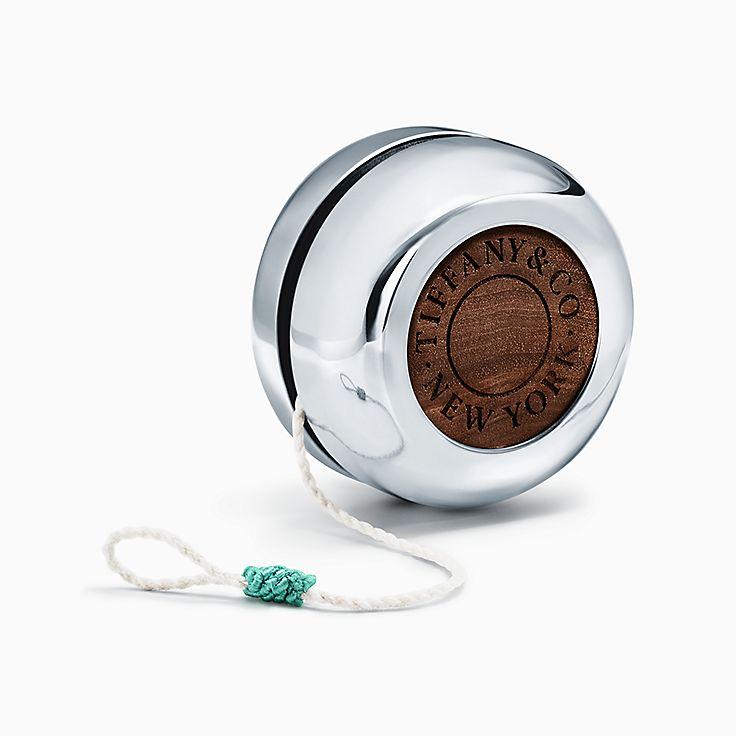 Objets du quotidien: Yo-yo en argent sterling et noyer noir