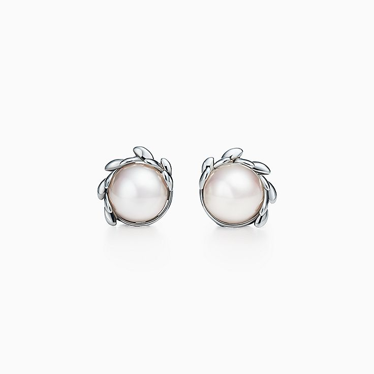 Orecchini di perle. Collezione Olive Leaf di Paloma Picasso®