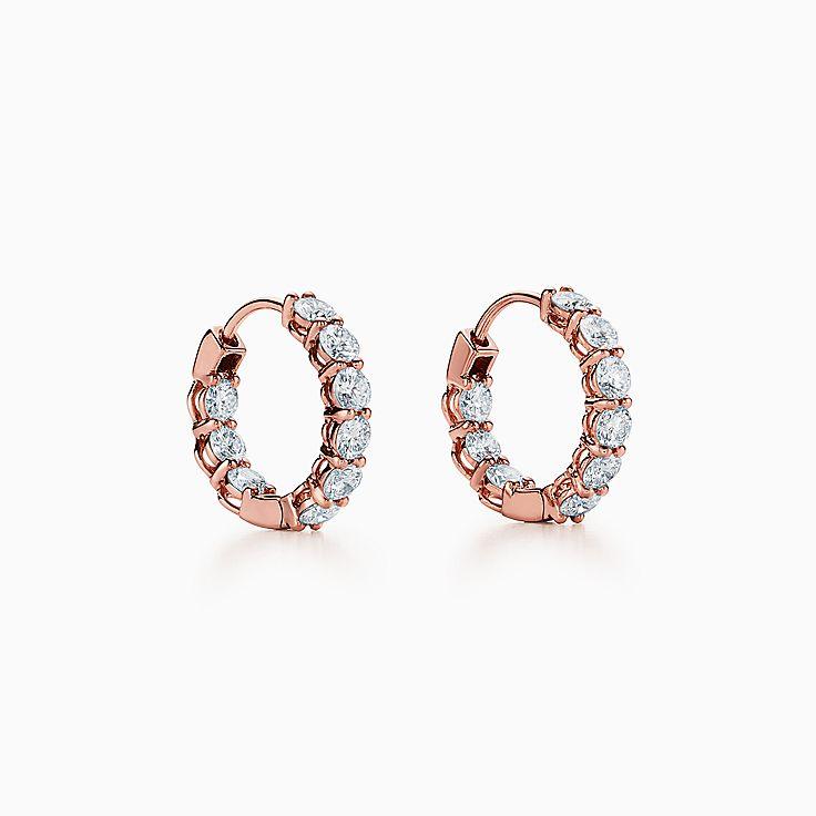 Orecchini Diamond Hoop