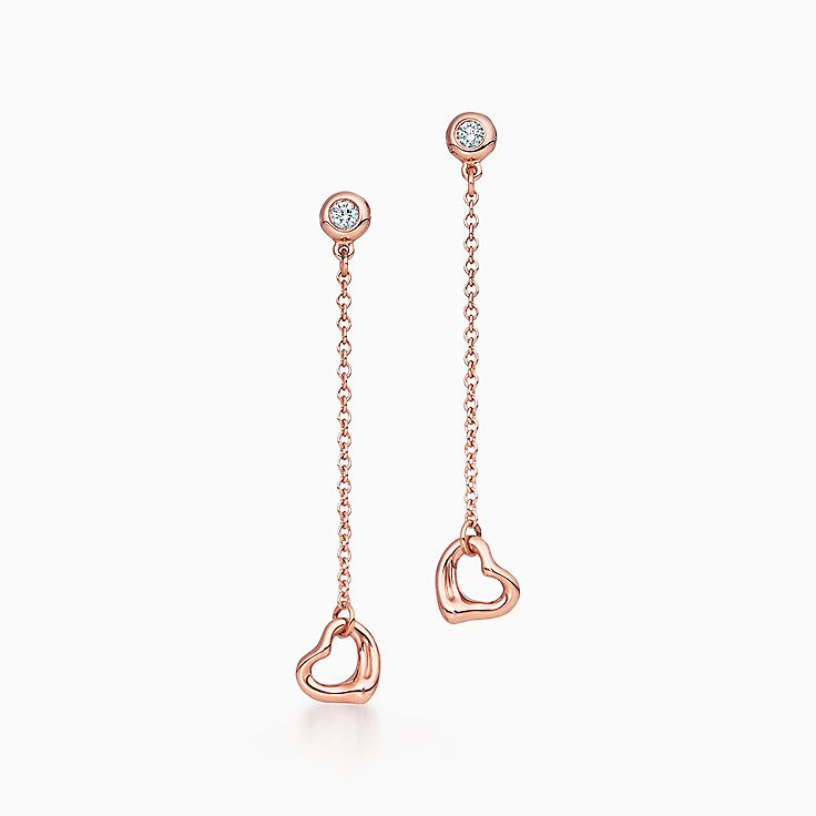 Orecchini Open Heart Diamonds by the Yard® Elsa Peretti®