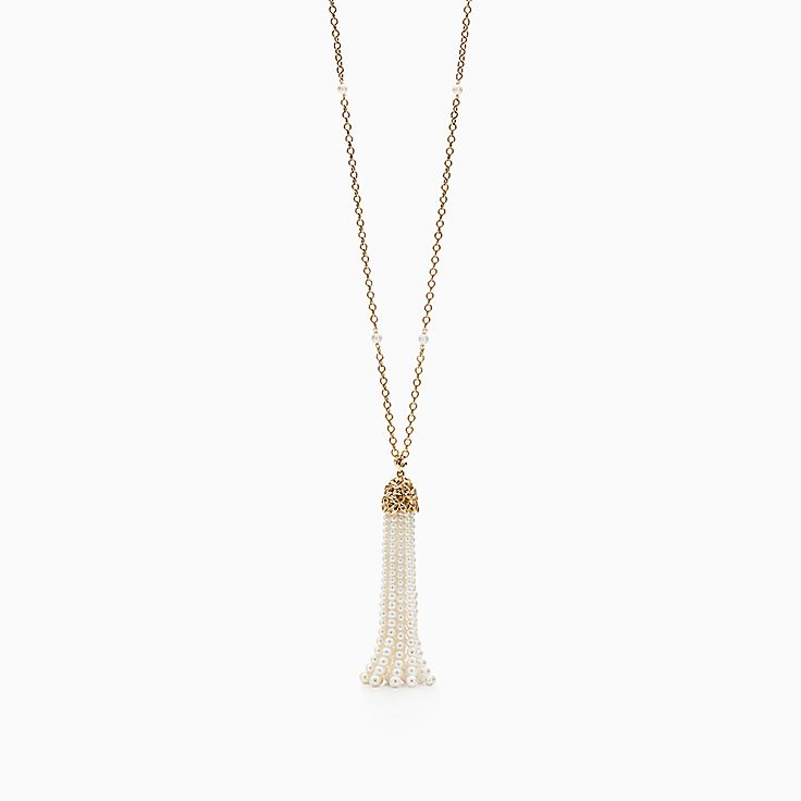 Paloma Picasso®:Olive Leaf Pearl Tassel Necklace
