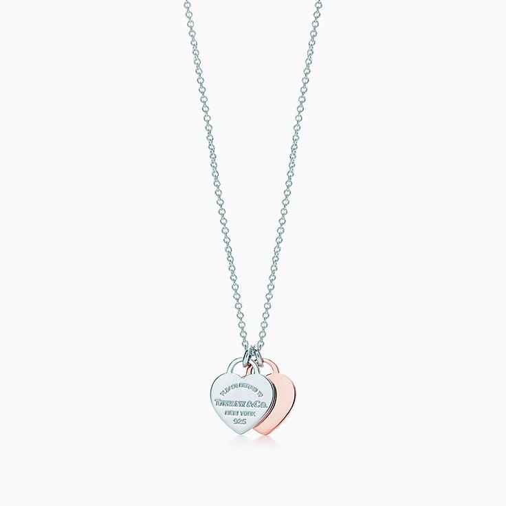 Pendente con doppio ciondolo a cuore. Collezione Return to Tiffany®