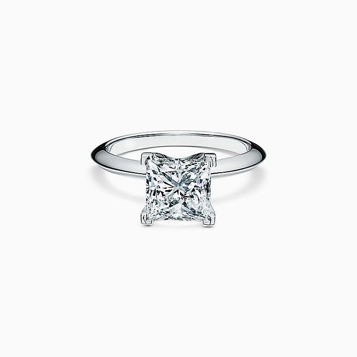 Princess-cut Diamond Engagement Ring in Platinum